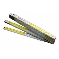 Doppiometro in legno bicolore 'ft'