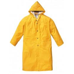 Impermeabile cappotto pvc giallo tg. l