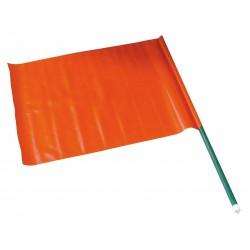 Bandiera segnaletica rosso fluo m/legno