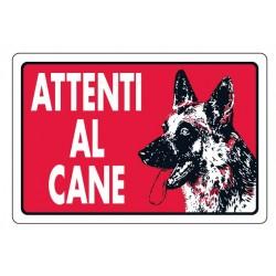 Cartello attenti al cane 30x20 cm