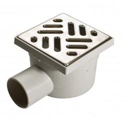 Chiusino sifon. c/griglia acciaio inox 105x105mm