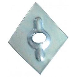 Rondella romboidale prezincata 27x27 mm
