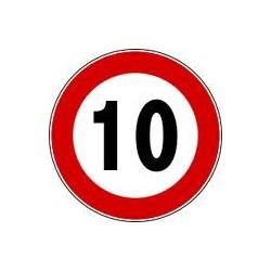 Disco limite velocita' 10 km/h