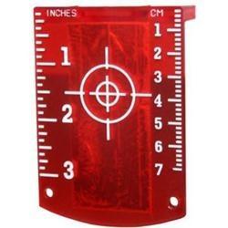 Squadretta magnetica per laser Rosso