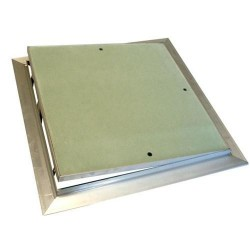 Botola d'ispezione per cartongesso in alluminio con sistema di apertura push pull 30x30 Chiusure2