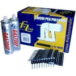 Chiodi e bombolette di gas per chiodatrice L 15mm 1000-2 pezzi