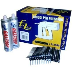 Chiodi e bombolette di gas per chiodatrice L 25mm 1000-2 pezzi