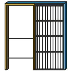 Controtelai per pareti interne rifinite ad INTONACO per porte scorrevoli ad un'anta, 1 pz