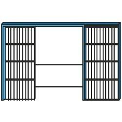 Controtelai per pareti interne rifinite ad INTONACO per porte scorrevoli doppia anta frontale, 1 pz