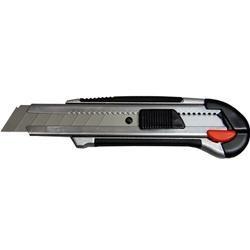 Cutter professionale in metallo, gommato, autobloccante con rotella e lama in acciaio H Lama 22mm