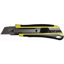 Cutter superprofessionale a guida, gommato, autobloccante e lama in acciaio H Lama 25mm