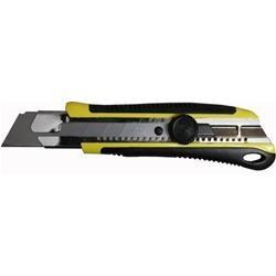 Cutter superprofessionale a guida, gommato, con rotella e lama in acciaio H Lama 25mm