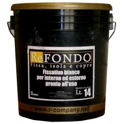 """Fondo acrilico bianco pronto allfuso """"REFONDO"""", Latta 14 Lt., Bianco,"""