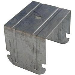 Gancio a scatto doppia struttura ad incrocio per profilo 27/50 H4,4cm arrotondato SpessoreBordo 4mm 100 pezzi