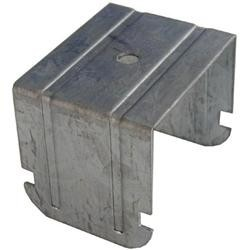 Gancio a scatto doppia struttura ad incrocio per profilo 27/50 H4,4cm schiacciato SpessoreBordo 2,6mm 100 pezzi