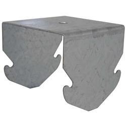 Gancio a scatto per doppia struttura per profilo 27/60 H5,5cm Bordo arrotondato Spessore 4mm 100 pezzi
