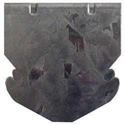 Gancio a scatto per profilo 27/60 H6cm Bordo arrotondato Spessore 4mm 100 pezzi