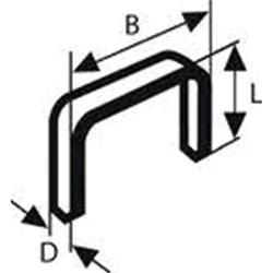 Graffette e chiodi di ricambio a fili piatto Dim.BxD 7,6x1.2mm Dim. L 12mm 1000 pezzi