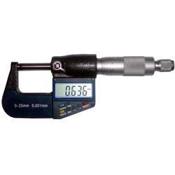 Micrometro digitale elettronico con frizione sul tamburo Misura da 0 a 25 mm