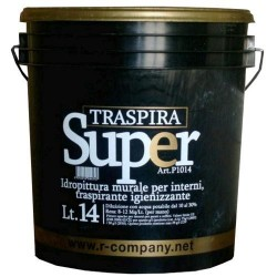 "Idropittura murale per interni traspirante igienizzante ""SUPERTRASPIRA"", Latta 14 Lt., Bianco,"