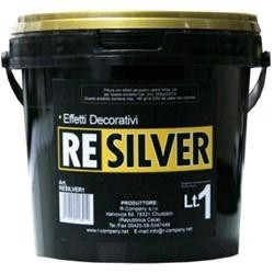 Pittura effetti decorativi Argento, Latta 5 Lt., Argento,