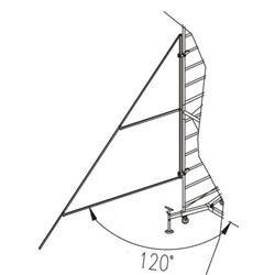 Staffe stabilizzatrici con giunti, 4 pezzi