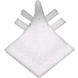 Angoli di raccordo in PVC, Bianco, 1 pz