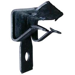 Clip in acciaio fosfatato di supporto orizzontale per pendino da Ø4mm Spessore di utilizzo (da 1,5a4)mm Portata 70Kg 100 pezzi