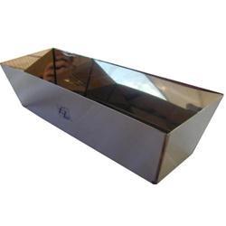Vaschetta rettangolare professionale in acciaio portastucco 35x11x8,8
